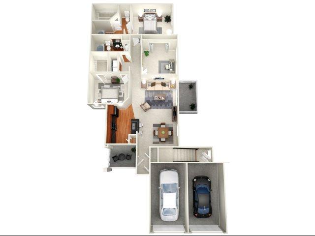 1,398 sq. ft. Paris I floor plan