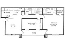 1,199 sq. ft. B floor plan