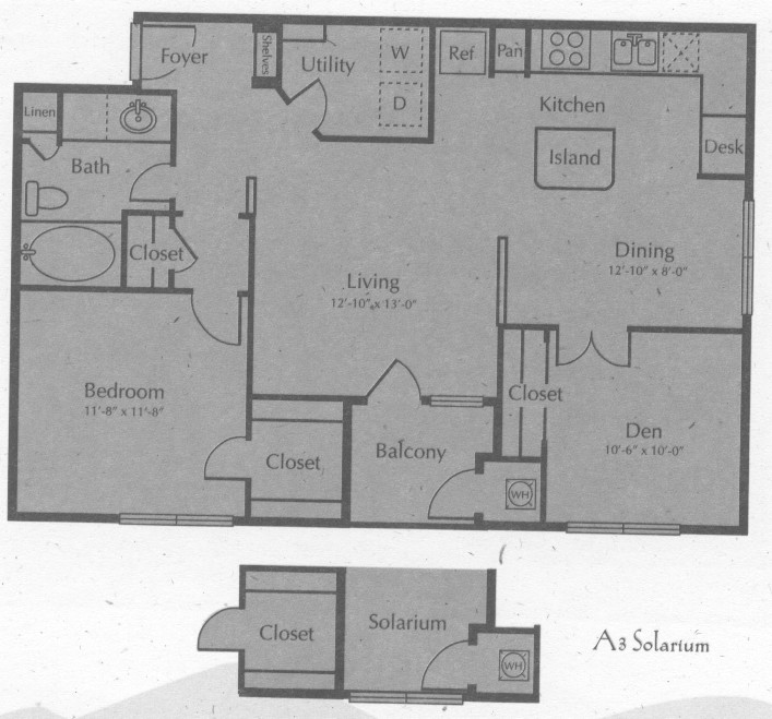 976 sq. ft. WIMBERLY W/SOL floor plan