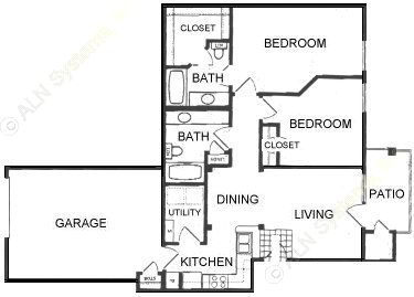 946 sq. ft. B1-GAR. floor plan