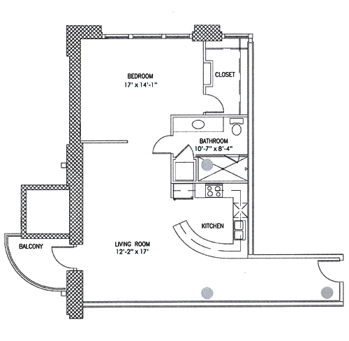 1,035 sq. ft. Nutter Butter floor plan