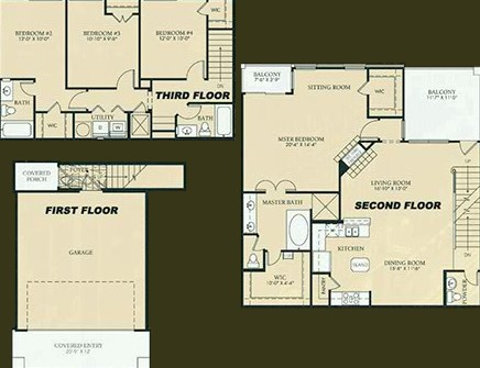 1,924 sq. ft. to 1,934 sq. ft. D2-MICHAELANGELO floor plan