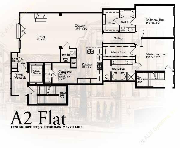 1,770 sq. ft. A2 floor plan