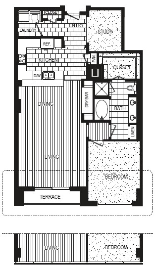 1,287 sq. ft. G floor plan