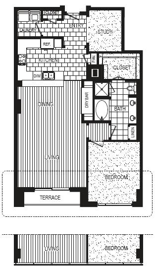 1,287 sq. ft. G floor plan