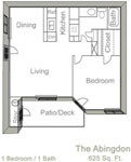 625 sq. ft. ABINGDON floor plan