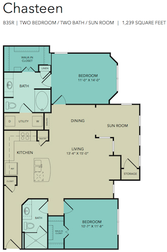 1,239 sq. ft. Chasteen floor plan