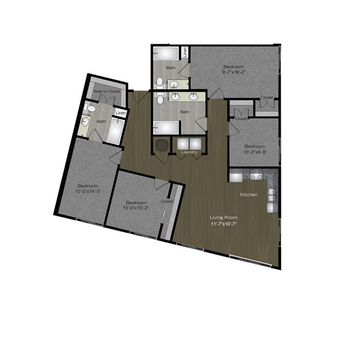 1,477 sq. ft. Krause floor plan