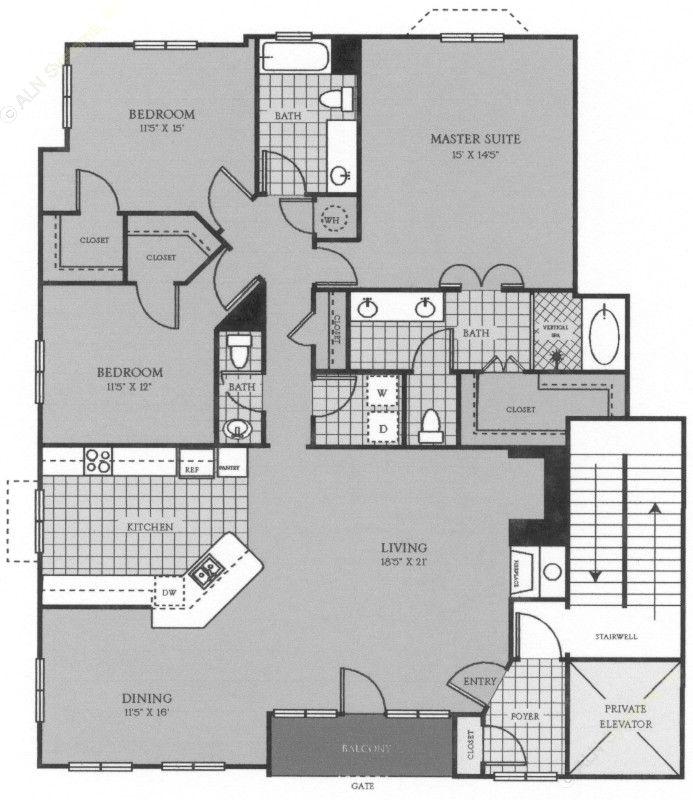 1,860 sq. ft. La Rochelle floor plan