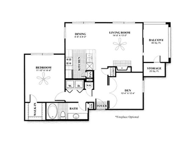 912 sq. ft. to 1,130 sq. ft. A4 w/GAR floor plan