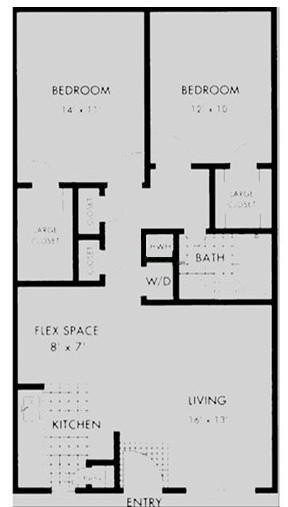 962 sq. ft. floor plan