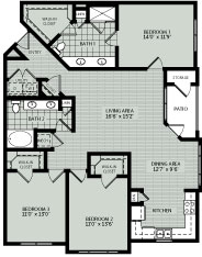 1,480 sq. ft. 3A floor plan