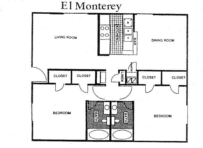 1,026 sq. ft. 60% floor plan