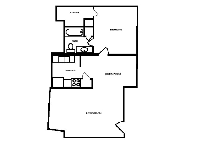 714 sq. ft. 60 floor plan