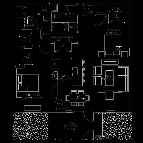 1,148 sq. ft. CA floor plan