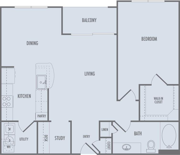 860 sq. ft. A4 floor plan