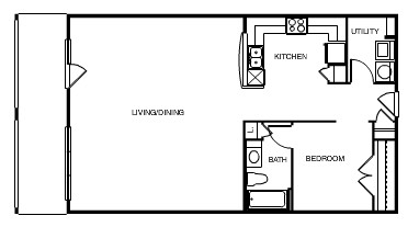 1,038 sq. ft. Montreal floor plan