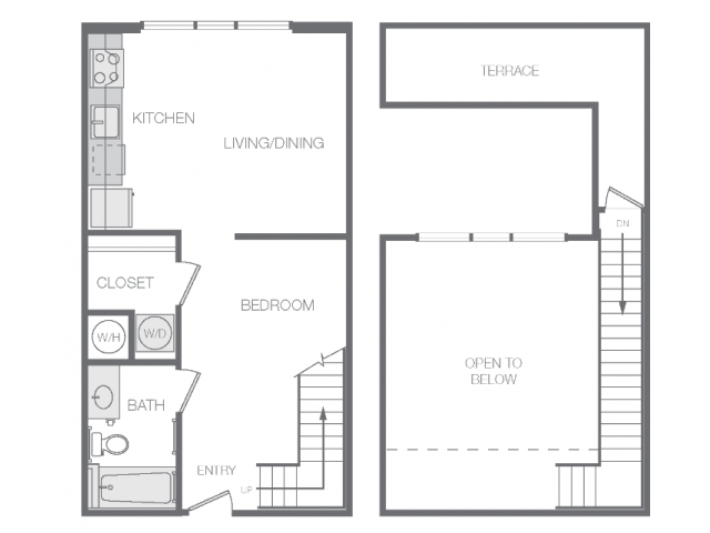593 sq. ft. Am floor plan