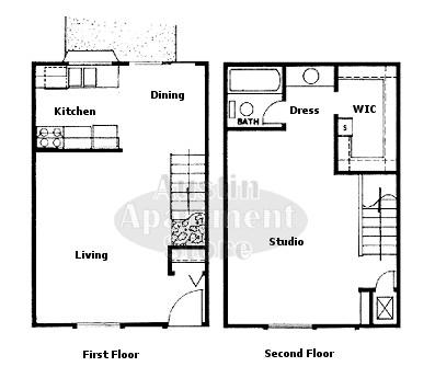 746 sq. ft. 50% floor plan