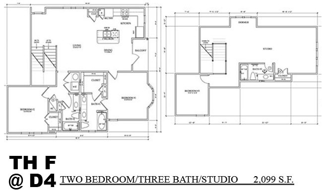 2,099 sq. ft. TH F floor plan