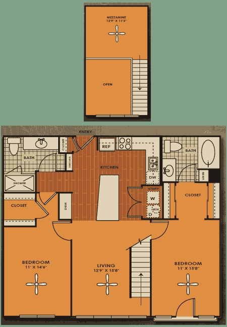 1,217 sq. ft. C2M floor plan