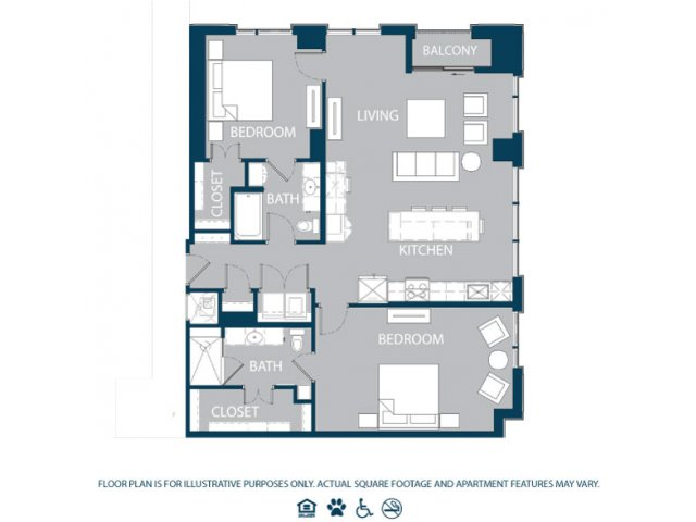 1,415 sq. ft. B4 floor plan