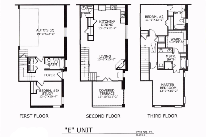 1,787 sq. ft. E floor plan