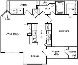 760 sq. ft. Joplin floor plan