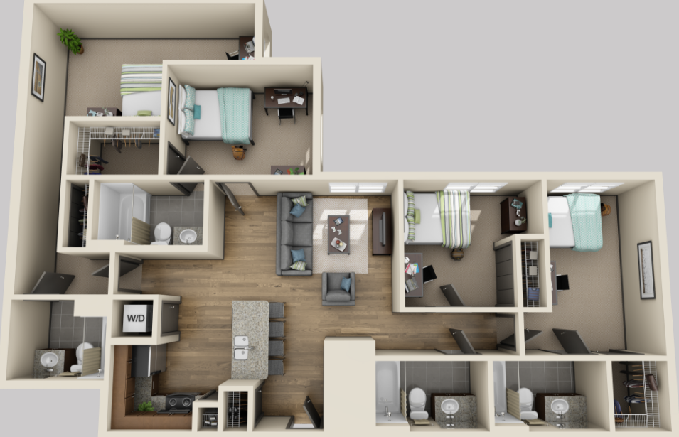 1,441 sq. ft. floor plan