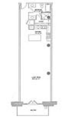 1,078 sq. ft. Original floor plan
