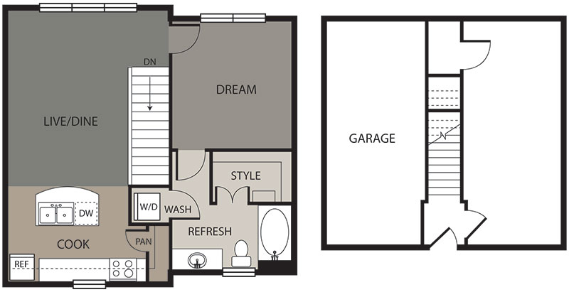 683 sq. ft. Llano floor plan