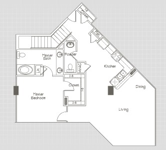 2,104 sq. ft. P9 floor plan