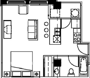 482 sq. ft. floor plan