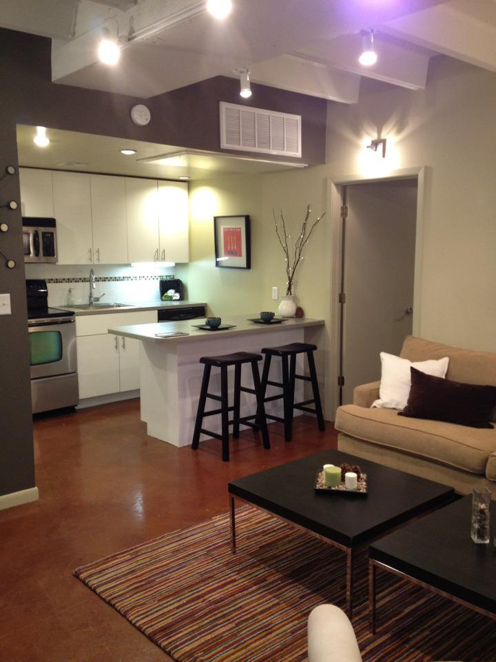 Living/Kitchen at Listing #255373