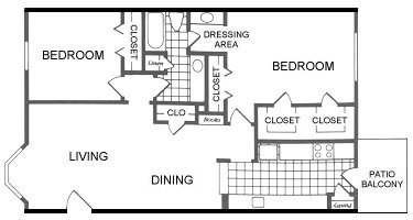 966 sq. ft. Laredo floor plan