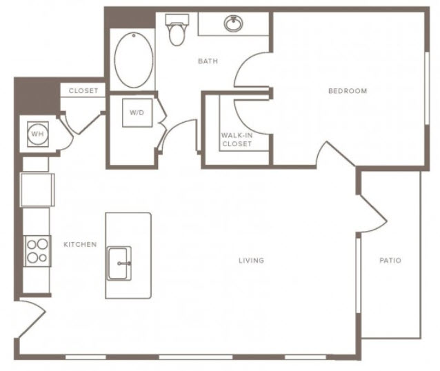 871 sq. ft. A15 Alt floor plan