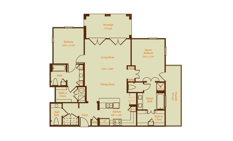1,762 sq. ft. Presidio floor plan