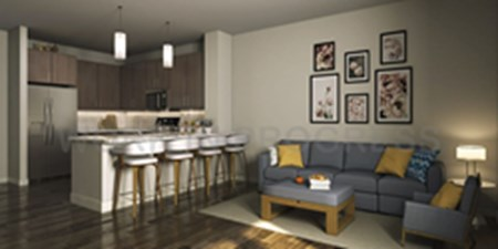 Living/Kitchen at Listing #305214