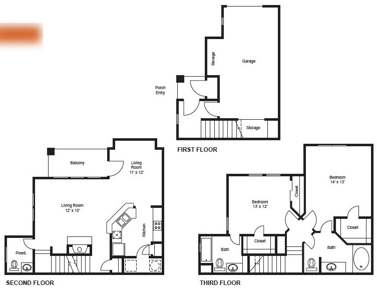 1,374 sq. ft. B4-Garage floor plan