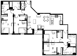 1,696 sq. ft. D6 floor plan