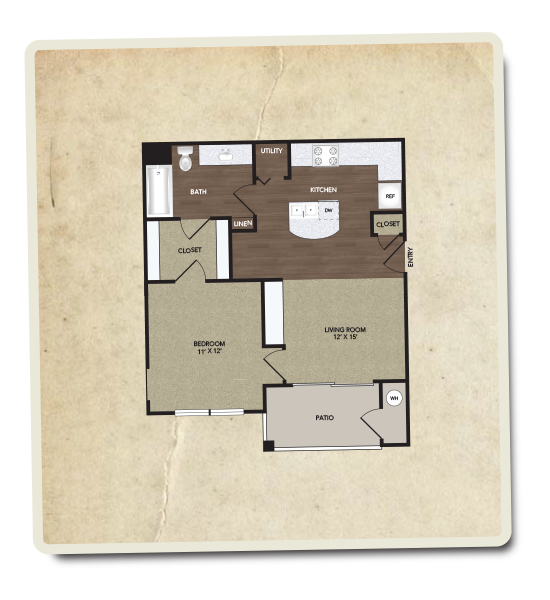 626 sq. ft. Summit floor plan