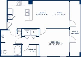 822 sq. ft. Thornwood floor plan