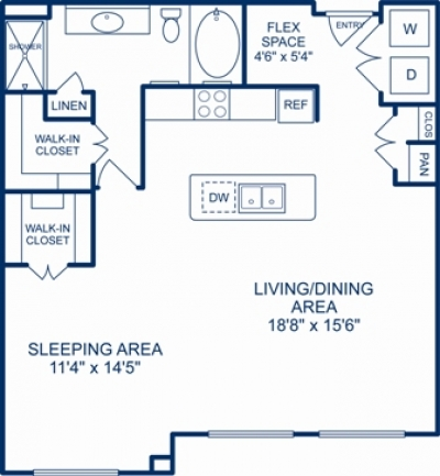 977 sq. ft. LEXINGTON floor plan