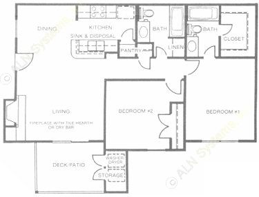 922 sq. ft. Emerald floor plan