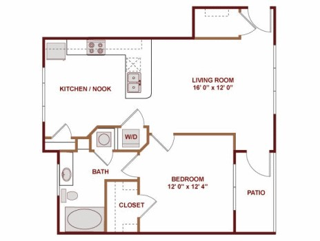 720 sq. ft. Malaga floor plan