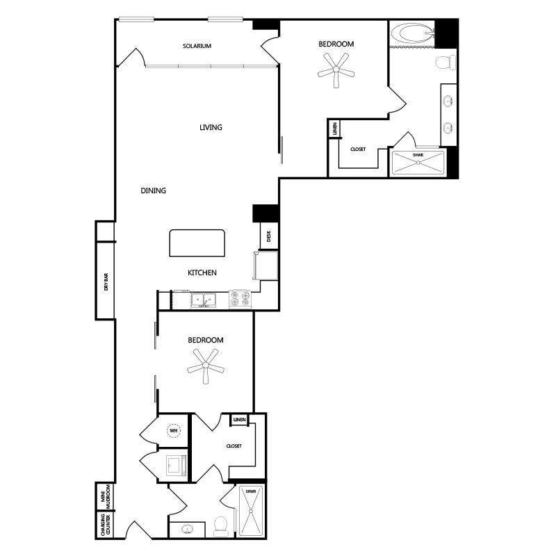 1,481 sq. ft. A10 floor plan