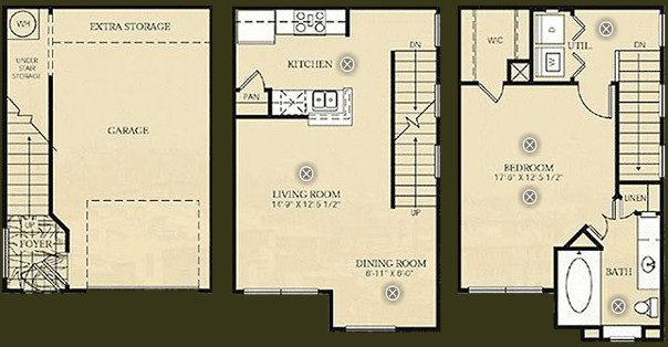 878 sq. ft. A4 - Da Vinci floor plan