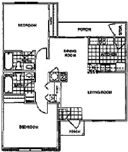 1,016 sq. ft. 50% floor plan