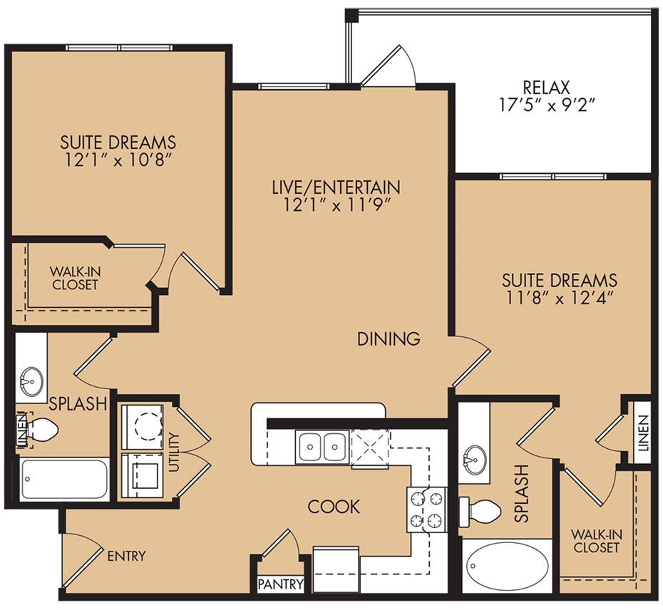 997 sq. ft. Robin floor plan