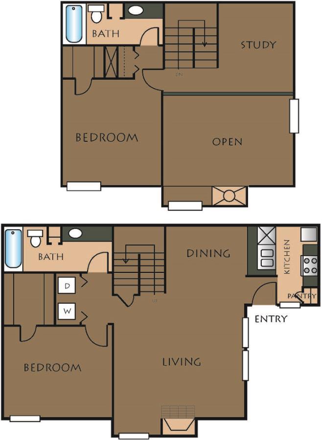 1,282 sq. ft. C-2 floor plan